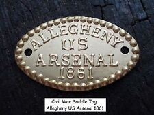 Old Rare Vintage Antique Civil War Relic Allegheny Arsenal Tag Perfect Gift