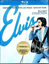 ELVIS PRESLEY - BLU RAY COLLECTION JAILHOUSE ROCK VIVA LAS VEGAS ON TOUR 3 DISCS