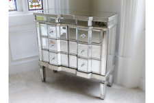 Antique Venetian Mirrored Sideboard Glass Cabinet Side Unit Mirrored Furniture