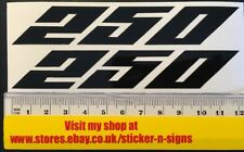 2x Black 250 Sticker Decal 120mm X 20mm Yamaha Stickers Decal