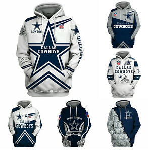 Dallas Cowboys Hoodie Pullover Hooded Sweatshirt Casual Jacket Gifts for Fans