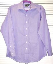 RALPH LAUREN MEN'S PURPLE STRIPED CASUAL/DRESS BUTTON FRONT SHIRT  Sz 16(32/33)