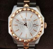 Roberto Cavalli Men's PYRAMID BEZEL Two-Tone Watch