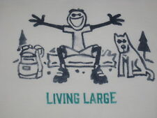 MENS LIFE IS GOOD S/S LIVING LARGE CAMPING  T--SHIRT SIZE XL