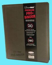 GRAY Premium Ultra Pro 9 Pocket 20 Pages 360 cards Binder magic yugioh vanguard