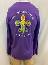 "New Southern Tide Men's Long Sleeve "" Mardi Gras Tee"" T-Shirt, Purple, S-2XL"