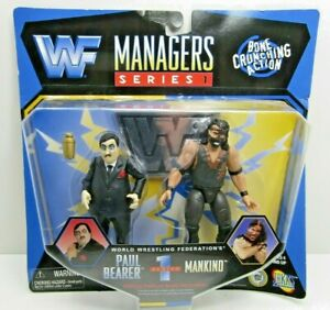 WWF Managers Series 1 Paul Bearer and Mankind Jakks 1997 MOC