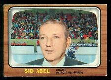 1966 67 TOPPS HOCKEY #42 SID ABEL COACH EX COND DETROIT RED WINGS card