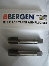BERGEN / USPRO M18 x 1.50 Fine Pitch Tap Set - Taper & Plug