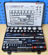 Würth Knarrenkasten 1/4 & 1/2 Zoll 59 Teile Würth Zebra Werkzeug