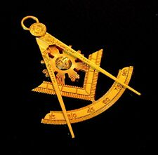 Past Master GOLDEN Tone Jewel For Masonic Collar Regalia Freemason Pendent
