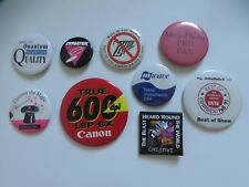 Lot of 9 Vintage Computer Pinback Button Pins Technology Comdex Canon Creative
