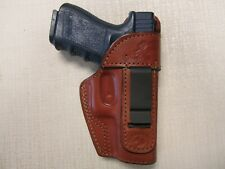 Fits Glock 30 formed BROWN leather Iwb holster with body shield