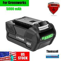 New 5.0 Ah Li-ion Battery For Greenworks 40V G-MAX Cordless tools 29462 29472