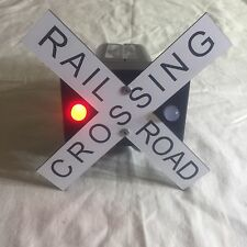 Railroad crossing trailer hitch cover with flashing lights !