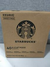 40 Count Keurig K-Cups Starbucks Blonde Medium & Dark Roast Variety Pack Coffee