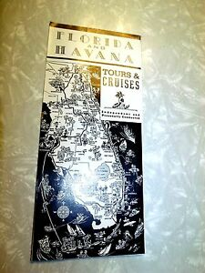 1947 Davis Havana And Florida Tours & Cruises Map Cover  Brochure