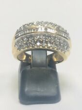 14K Gold Preloved DIAMOND CLUSTER Ring
