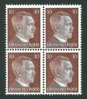 DR Nazi 3rd Reich Rare WW2 Service Stamp 1942 Adolf Hitler's Head NSDAP Official