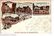 Gruss aus Peine 1898 Schützenhaus Stederdorferstr Litho Niedersachsen 1505412*