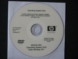 Operating System Disc Vista Ultimate SP1 [DVD] HP Compaq 484235-DN1