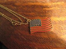 American Flag Necklace - Vintage Phister Ent 1996 America Stars & Stripes USA