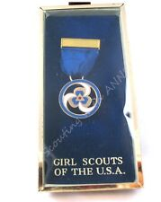 10K Gold THANKS BADGE Pin NEW in BOX Adult Girl Scout Award VTG. Collector GIFT