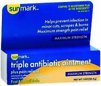 sunmark First Aid Antibiotic with Pain Relief Ointment 1 oz. - PACK OF ONE