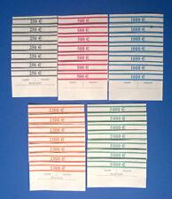 35x EURO Banderolen STANDARD 100er gemischt je Sorte 5St Geldscheinbanderolen