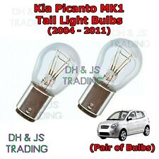 Kia Picanto Tail Light Bulbs Pair of Rear / Tail Light Bulb Lights MK1 (04-11)