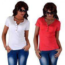 Figurbetonte hüftlange Kurzarm-Damenblusen, - Tops & -Shirts im Blusen