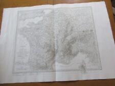 GRANDE CARTE 73X104  FRANCE 1804 RETIRAGE IGN BEAU PAPIER 1ER EMPIRE MILITAIRE