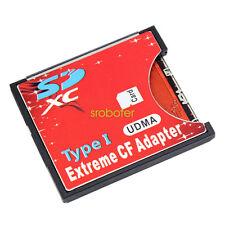 SD MMC card into Compact Flash card Slim card adaptor Type I CF Adapter