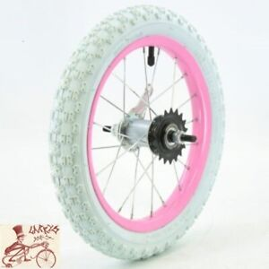 """OEM COASTER BRAKE 16""""  PINK STEEL BICYCLE REAR WHEEL WITH TIRE AND TUBE"""