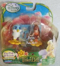 Disney fairies TINY TINK & Friends Tinkerbell FAWN & BABY BIRD Lost Treasure NEW