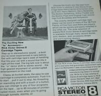 1966 Vintage Print Ad RCA Victor Stereo Tape Music 8 Track Auto Cartridge Sound
