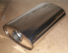 """8"""" x 4"""" Oval x 14"""" Long Universal stainless steel exhaust silencer"""