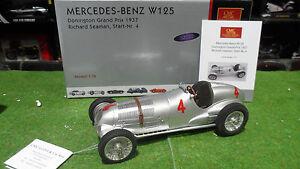 MERCEDES BENZ W125 1937 SEAMAN # 4 GP Donington 1/18 CMC M-116 F1 formule 1 voit