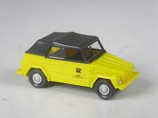 selten Wiking Werbemodell VW 181 Kübel Bundespost geschlossen, frühe Version