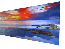 LARGE SIZE SUNSET PAINTING OCEAN CANVAS SEASCAPE 2100mm jane crawford