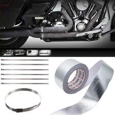 25Mx5CM Cinta de Aluminio Adhesiva Anticalórica con Tira para Tubo Escape Coche