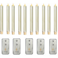 Luminara Flameless LED Taper Candles Ivory set of 10