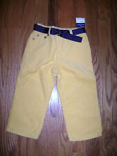NWT RALPH LAUREN BABY BOYS CORDUROYS PANTS size 24 MONTHS 24 MOS YELLOW