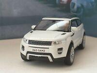 RANGE ROVER EVOQUE WHITE 1.38 PERSONALISED DIECAST MODEL CAR NEW BOYS TOYS GIFT