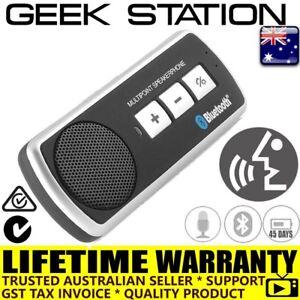 Wireless Bluetooth Hands Free Speaker Car Kit Sun Visor mount 45 days standby
