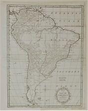 Genuine 1777 South America Kitchin Map Argentina Brazil Chile Paraguay Peru