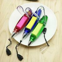 Multifunction Ballpoint Pens Note Cute Paper Light Pen With Lanyard Stationery
