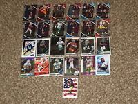 25 RC Card Lot 2018 2019 2020 NFL Football Rookie Panini Donruss Optic Prizm