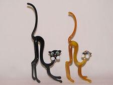 figurine en ( pâte de ) verre animalière collection décoration le chat H 18-20cm