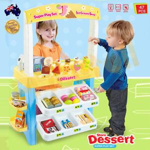 OZ Kids Supermarket Pretend Play Icecream Dessert Set Scanner Cash Register Toy
